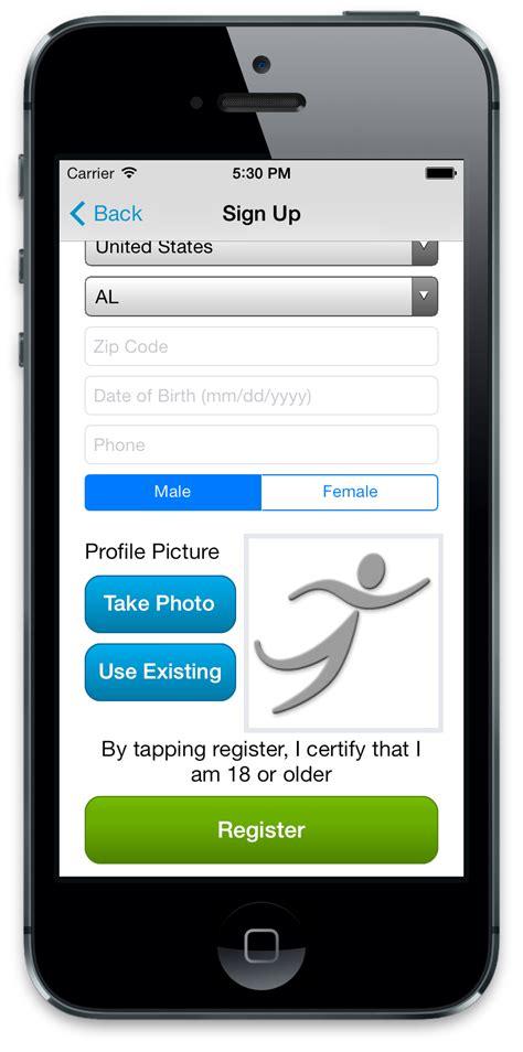 mobile register runner mobile app runsignup