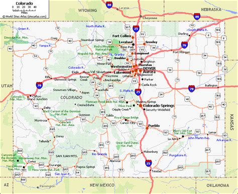 colorado in map colorado pet friendly road map by 1click