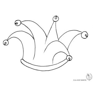 jester hat coloring page coloring page of jester hat with bells for coloring for