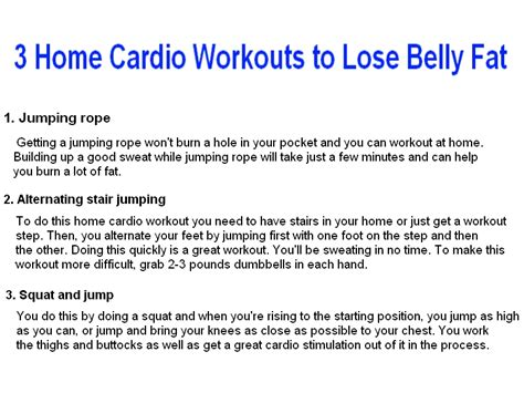 work out to lose belly