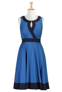 patio dress blue themed casual dresses fashion fuz