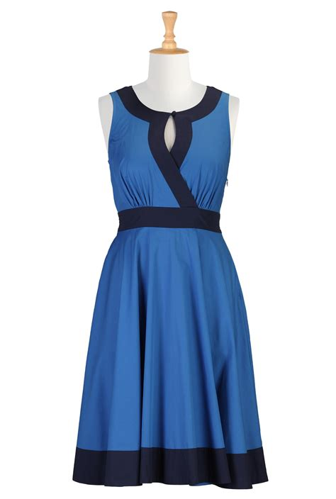 blue themed casual dresses fashion fuz
