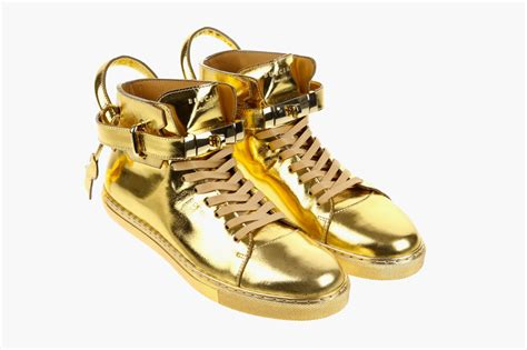 gold sneakers buscemi 100mm gold sneaker