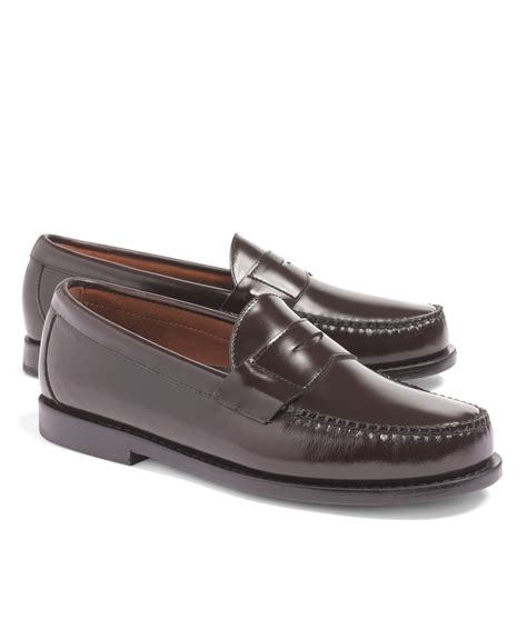 burgundy loafers for brothers classic loafers in brown for