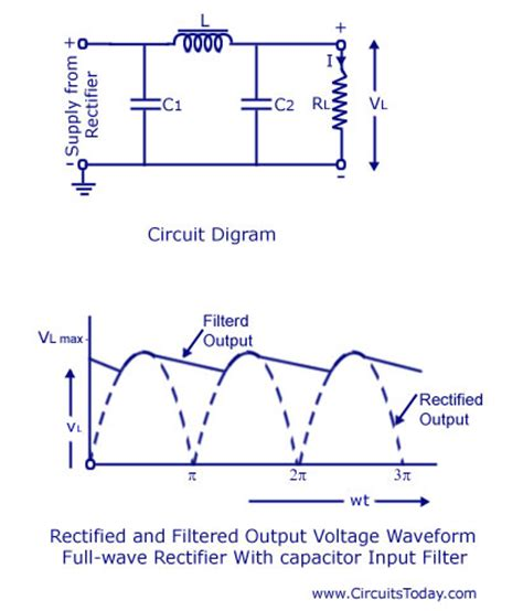 capacitor in a ac circuit filter circuits working series inductor shunt capacitor rc filter lc pi filter