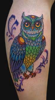 colorful tattoos 30 spectacular owl ideas