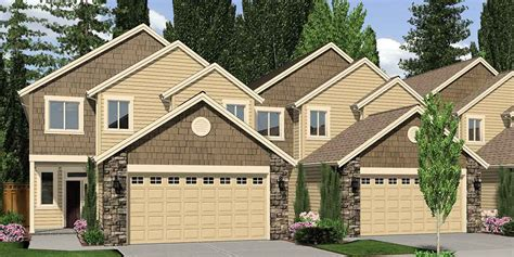four bedroom townhomes 4 plex house plans multiplexes quadplex plans