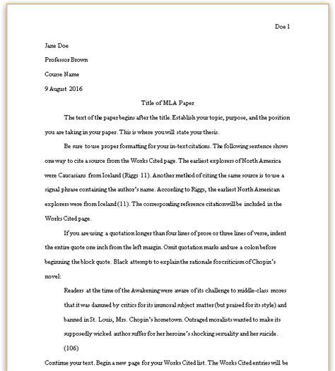 formatting  mla paper mla style guide  edition