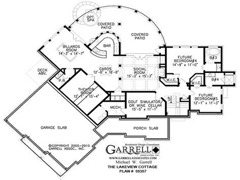 garrell floor plans tranquility house plan garrell house plans lakeview