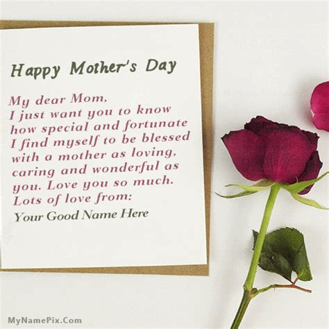 what to write in a s day card mothers day card with name