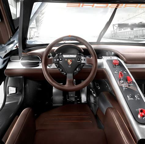 porsche cars interior porsche 918 rsr concept brown grey black silver carbon