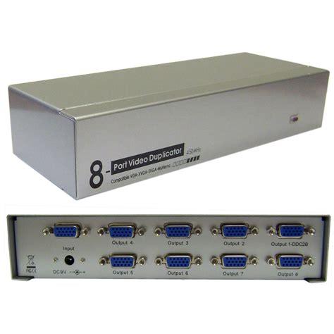 Monitor Vga vga splitter 1 pc to 8 monitors 450mhz