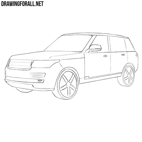 range rover sketch how to draw a range rover drawingforall net