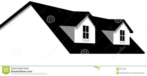Windows On Roof Of House Home Roof House 2 Dormer Windows Stock Vector Image 5707694