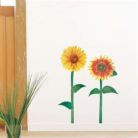sunflower wall stickers sunflowers wall decals stickers appliques home decor