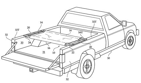truck bed cot patent us6230340 truck bed cot system google patents