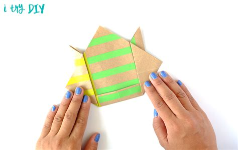 Origami Shopping Bag - mini origami shopping bag i try diy