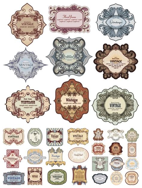 printable decorative tags 15 free vector decorative labels images free decorative