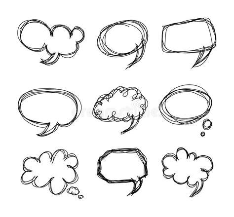 doodle speech free vector drawing speech bubbles doodle stock vector