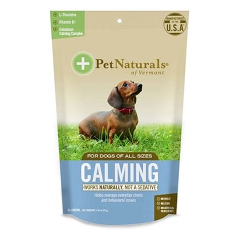 puppy calming treats pet naturals calming soft chews baxterboo