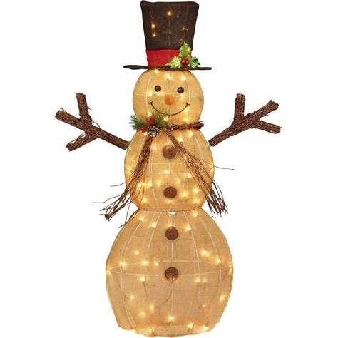 christmas decor lighted snowman 48 quot indoor outdoor yard