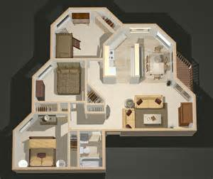 3d Floor Plan Creator 3d Apartment Floor Plans 3 Bedroom Viewing Gallery