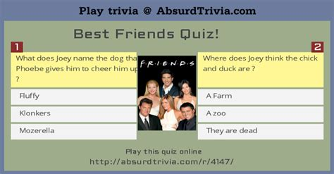 best quiz best friends quiz