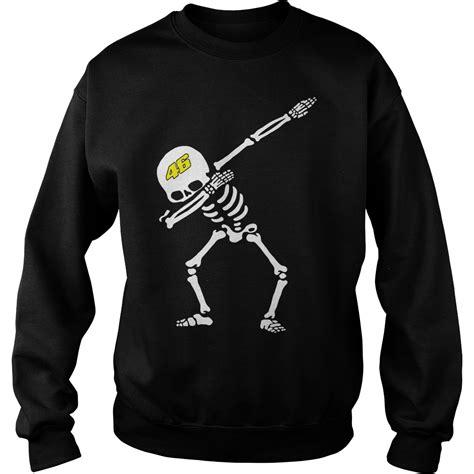 Sweater Vr46 Valentino Vr46 Dabbing Skeleton Shirt Hoodie