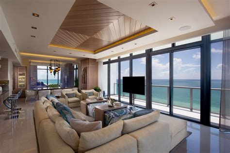 miami beach penthouse beach style living room other luxurious double penthouse at the residences in miami beach