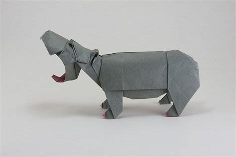 Origami Hippo - oragami hippo origami animales diana and