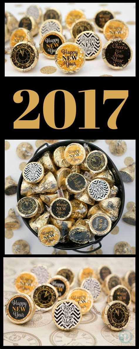 new years 2018 party favors 2018 new year s favors gold and black stickers for hershey kisses set of 324