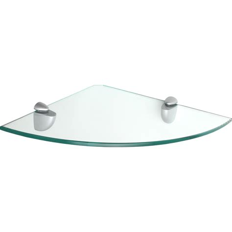 glassline corner jam glass corner shelf set clear blue