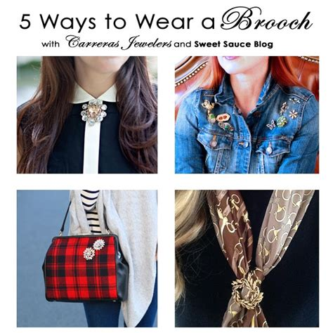 Ways To Wear A Brooch by Five Ways To Wear A Brooch This