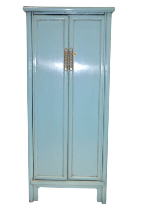 Blue Armoire by Blue Cabinet Armoire Reproduction Furniture