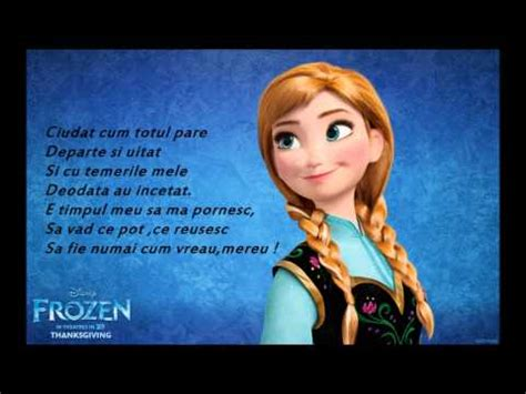 film cu elsa in romana frozen let it go s a intlat versuri youtube
