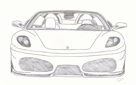 Ferrari Zeichnen by Ferrari Drawing Ferrari F430 By Tioz On Deviantart