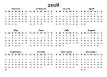 Blank Yearly Calendar Template by 2018 Calendar Templates 2018 Monthly Yearly