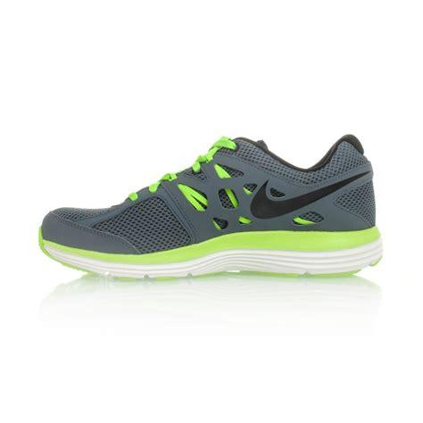 nike dual fusion lite mens running shoes grey green