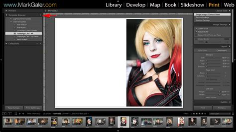 Lightroom Print Templates And Save Contact Sheet To Pdf Mark Galer Lightroom Print Templates