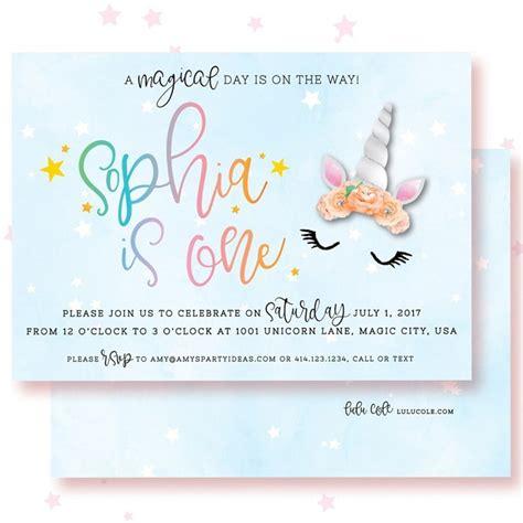 printable unicorn birthday invitations unicorn birthday invitations amy s party ideas