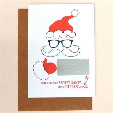 secret card template message secret santa cards pack of 10 hardtofind