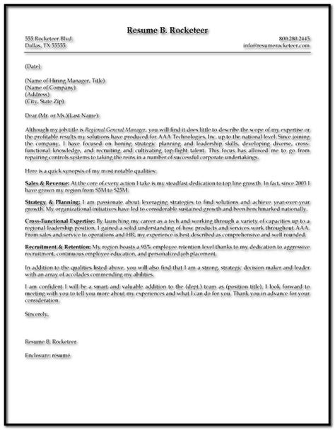 sle cover letter for resume executive director cover