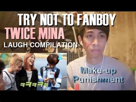 Mascara Fanbo try not to fanboy mina laugh compilation reaction w makeup