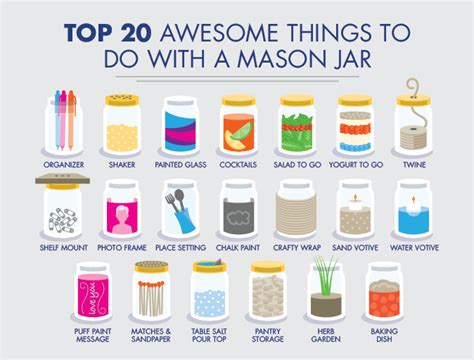 20 things to do with a mason jar above beyondabove