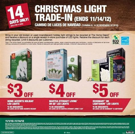 home depot light trade in november 1 14 al