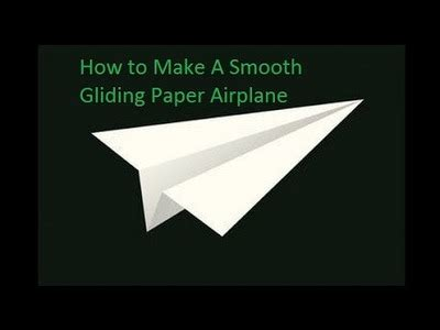 How To Make The Best Gliding Paper Airplane - locking floats my crafts and diy projects
