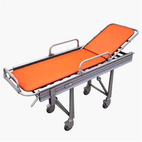 gurney bed 3d model hospital stretcher bed