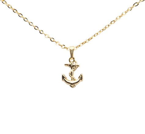 gold anchor necklace reese