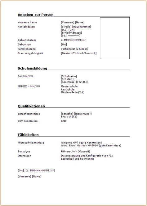 Hobbys Lebenslauf Schweiz Leitfaden Zum Lebenslauf Deutschland Und Schweiz