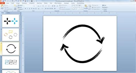 How To Make Custom Diagrams For Powerpoint Presentations Using Circular Hand Drawn Arrows Powerpoint Custom Template